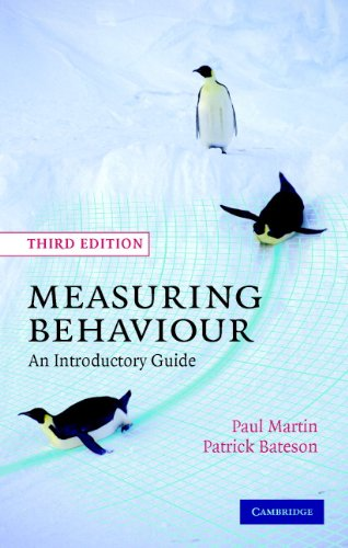 Measuring behaviour : an introductory guide / Paul Martin, Patrick Bateson